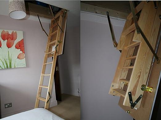 De madera térmica escalera para desván MASTER 120 x 70 ático o escalera: Amazon.es: Bricolaje y herramientas