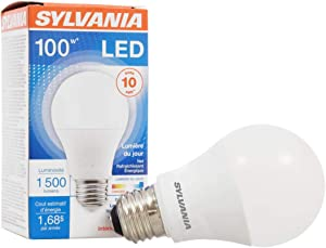 SYLVANIA, 100W Equivalent, LED Light Bulb, A19 Lamp, 1 Pack, Daylight, Energy Saving & Long Life, Medium Base, Efficient 14W, 5000K
