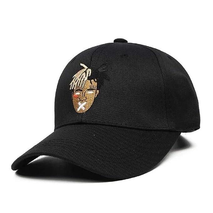 Men Baseball Hat Cap Xxxtentacion Hip Hop Rap Snapback Revenge Vibes  Adjustable Black 4498ea529f40