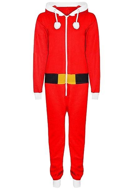 Vanilla Inc - Pijama de una pieza - para niño rojo Red SANTA Jumpsuit