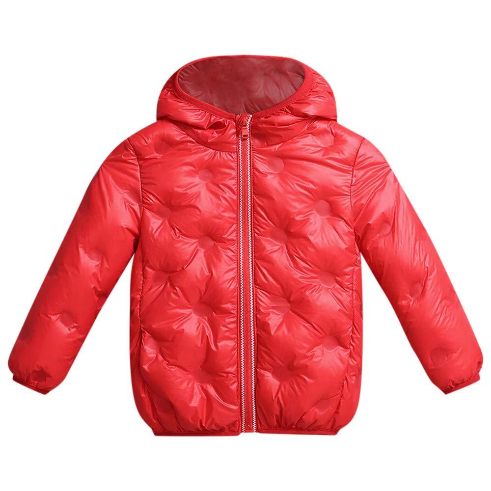 Franterd Little Boys/&Girls Winter Solid Coat Cloak Kids Light Down Jacket Thick Warm Hooded Coats