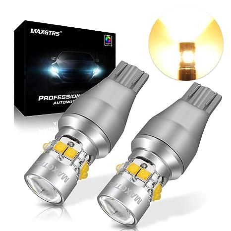 Maxgtrs Warm White 50W Bombilla LED Cree Chip T15 W16W 921 912 Luces de respaldo 360