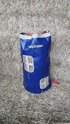 NAVY BEIGE HAYGRAZER PLAY HAY FEEDER FOR HORSES OR PONIES FOR SLOW FEEDING, PREVENTS BOREDOM ON BOX REST OR DURING TRAVEL (NAVY BEIGE)