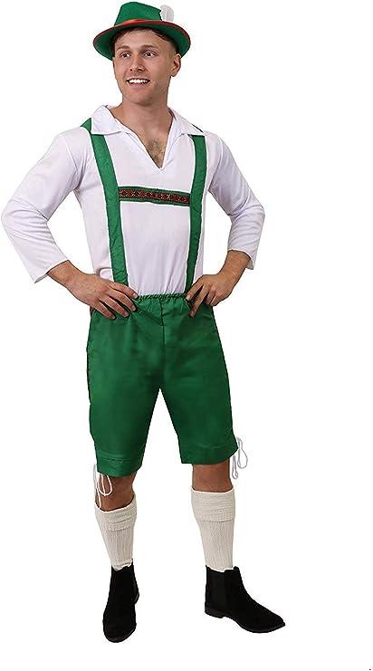 ILOVEFANCYDRESS Disfraz DE Hombre BÁVARO - PANTALÓN Verde DE ...