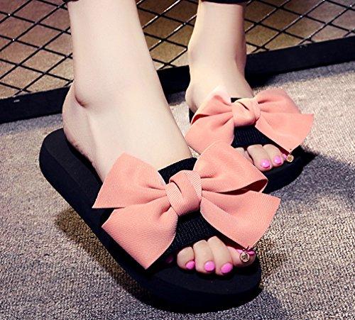 Pantofole Da Donna Cattior Da Donna Estate Simpatiche Pantofole Sandali Da Spiaggia Rosa