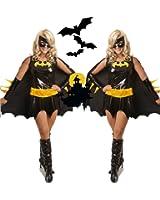 Halloween Women's Sexy Batgirl Adult Black Costume