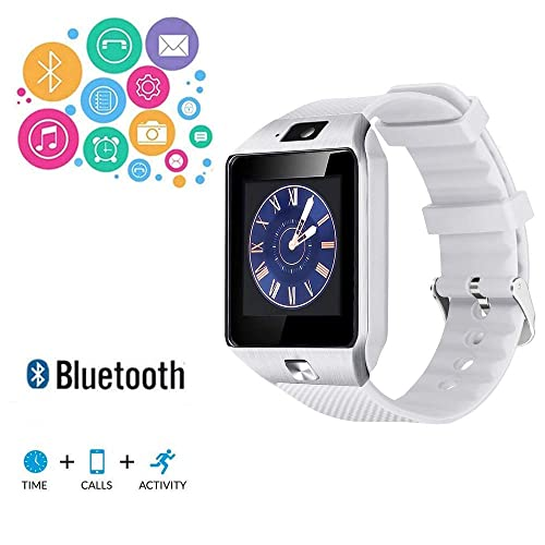 TKSTAR Smart Watch Touchscreen Bluetooth Watch Camera Tmobile Text and Call for iPhone Compatible,Fitness