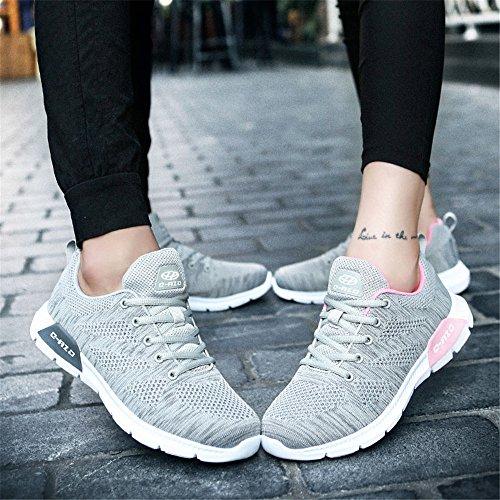 DADAZE up Mesh Trainers Shoes Gray Men's Lightweight Running Women Lace qxSqHfw