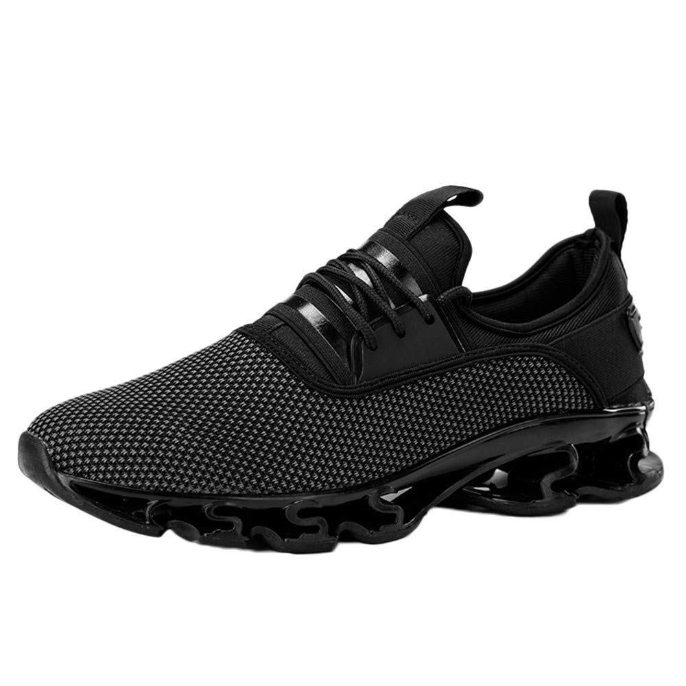 Corriee Men Sneaker Mesh Breathable Athletic Outdoor Lightweight Running Training Jogging Gym Shoes Black
