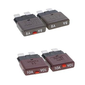 Gazechimp 4 Stücke 28V 8A 10A Fahrzeug Sicherungen Mini Fuse Circuit ...
