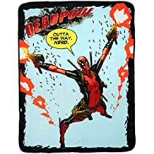 "Marvel Deadpool ""Outta The Way, Nerd."" 46"" x 60"" Plush Throw Blanket"