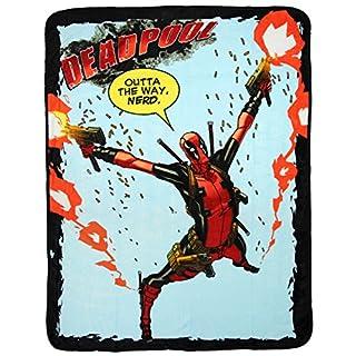 "Marvel Deadpool Outta The Way, Nerd. 46"" x 60"" Plush Throw Blanket"