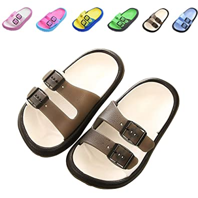 7c83acad4a56 Toddler Little Kids Summer Sandals Non-Slip Boy Girl Slide Lightweight  Beach Water Shoes Shower