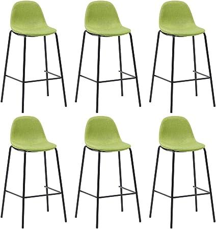 vidaXL 6X Chaises de Bar Siège de Bistrot Chaise de Comptoir