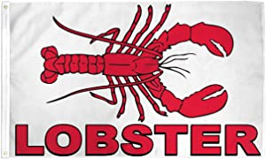 Lobster Flag Seafood Advertising Banner Restaurant Sign Sea Food Pennant 3x5 New