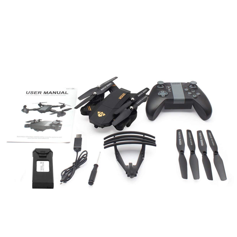 Qewmsg VISUO XS809HW 2.4G Faltbarer FPV-Selfie-Drohne-RC-Quadcopter mit 720P-Weitwinkelkamera für Höhenstand-Headless-Modus