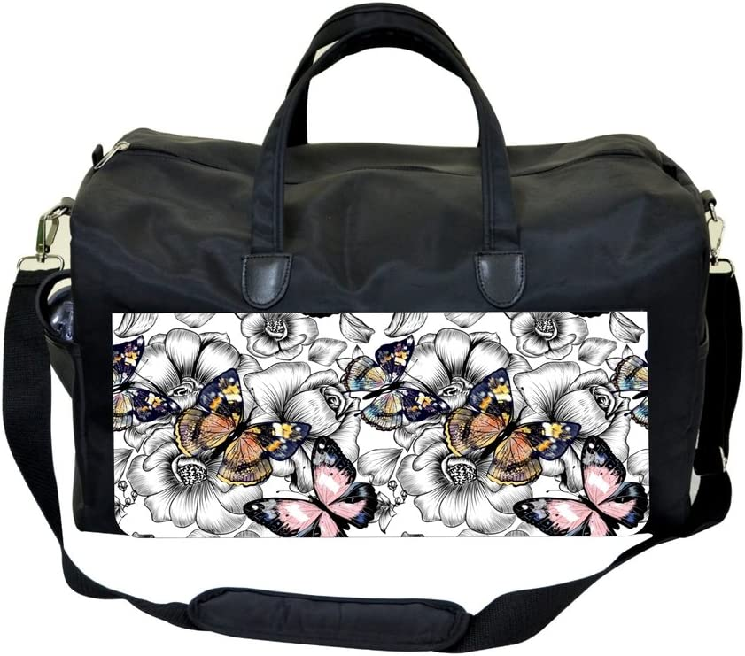 Butterflies on Flowers Sports Bag