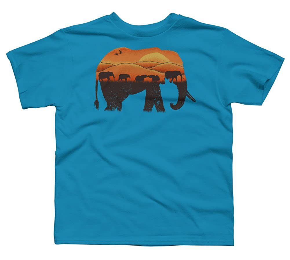 ea04027ec6db4 Top1  African Elephant Boy s Youth Graphic T Shirt - Design By Humans