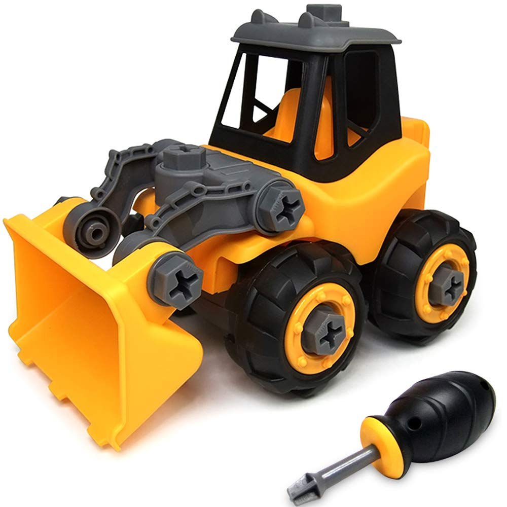 WisToyz Take Apart Toys Toddler Toys, Assembly Toy Bulldozer with Constructions Set, Building Vehicle Play Set with Screwdriver, Ideal Educational Toys for Toddlers, Boys & Girls Aged 3, 4, 5, 6