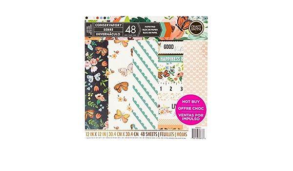 Craft Smith Santa Fe Garden Scrapbooking 12x12 Paper Pad MPP0314 48 Sheets