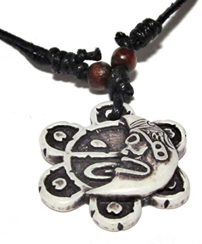 Amazon Black And White Taino Sun And Moon Necklace Indian