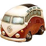 秋月貿易 置物 バス RED W10×D16×H10㎝ オールディーズ マネーバンク GA078502R