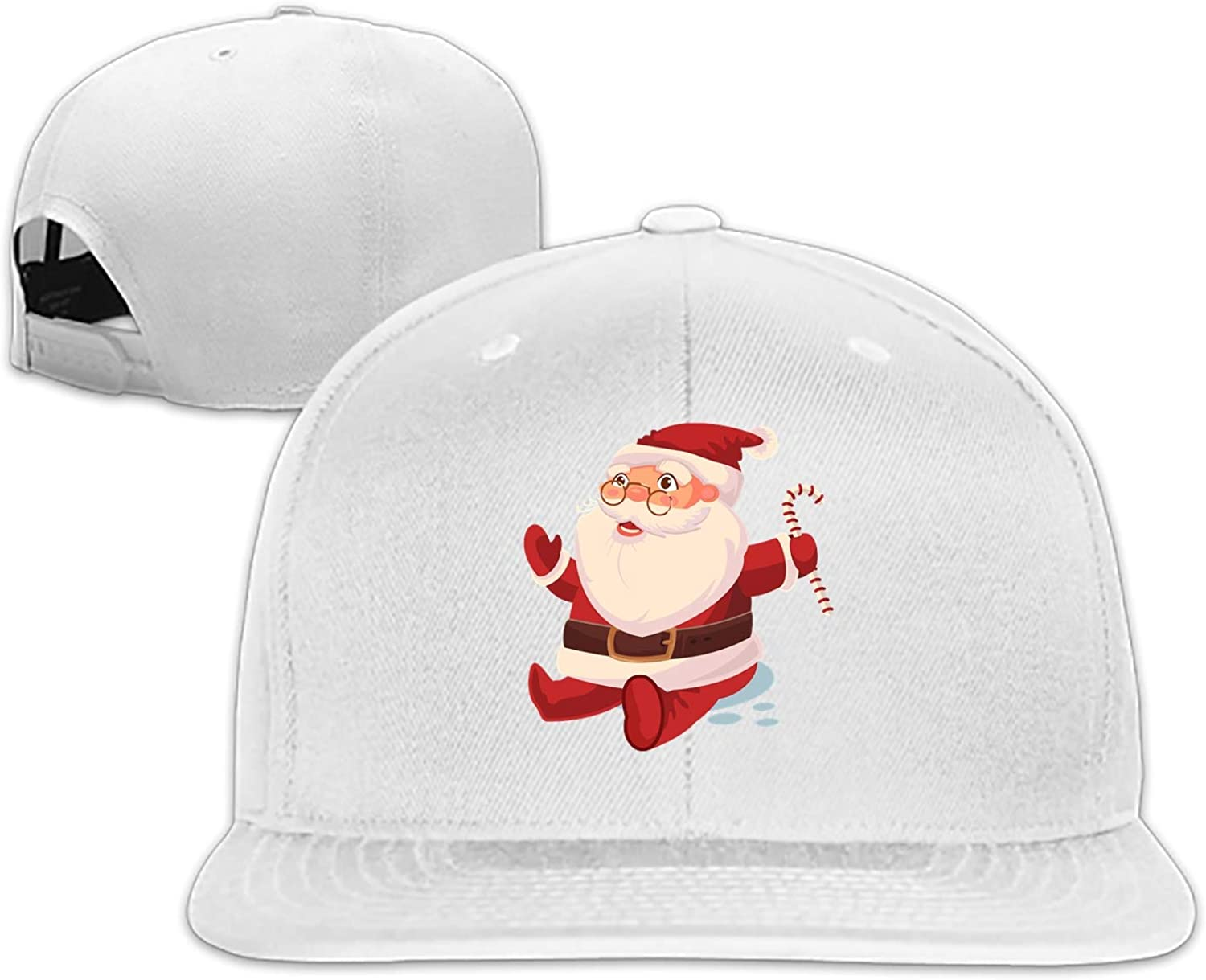 Merry Christmas Mens Structured Twill Cap Adjustable Peaked Sandwich Hat