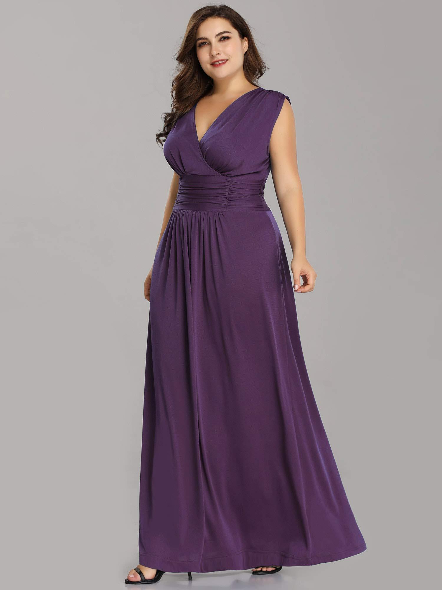 Plus Size Purple Wedding Dress - Ficts