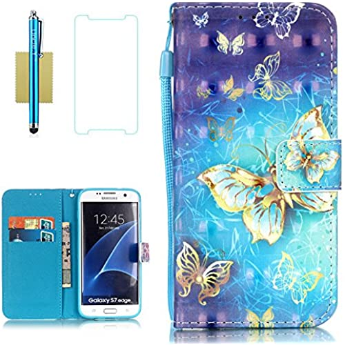 Galaxy S7 Edge Case,S7 Edge Case,Uncle.Y Wallet Flip Pu Leather Case,3D Pattern Design Stand Cover Folio Sling Sales