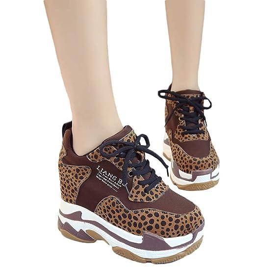 8e42b4b85a15 TianWlio Stiefel Frauen Herbst Winter Schuhe Stiefeletten Boots Freizeit  Flock für Frauen mit Rundhalsausschnitt und Leoparden Drucken mit Dicken  unteren ...