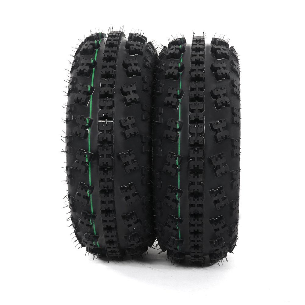 Front Tire Set (2x) 4ply 21X7-10 Sport ATV Tires 21 7 10 21x7x10 Pair by Roadstar (Image #1)
