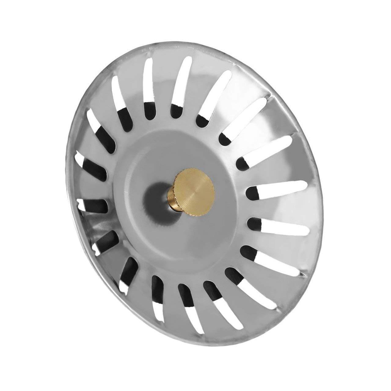 Jasnyfall /Éviers de cuisine universels bouchons en acier inoxydable couvercle d/évier Dishpan /égouttoir coche prise filtre de remplacement panier pour le m/énage couleur acier