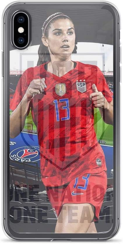 Compatible with iPhone X/XS Case Alex Morgan Soccer Player Orlando Pride no.13 Pure Clear Phone Cases Cover (iPhone 7 Plus/8 Plus)