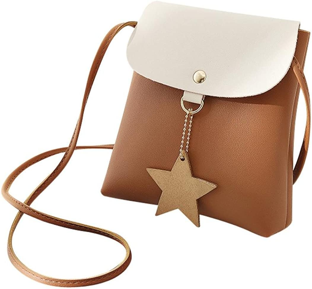 Shybuy Fashion Womens Satchel Shoulder Bag Mini Handbag Bag with Star Pendant Women Crossbody Bag