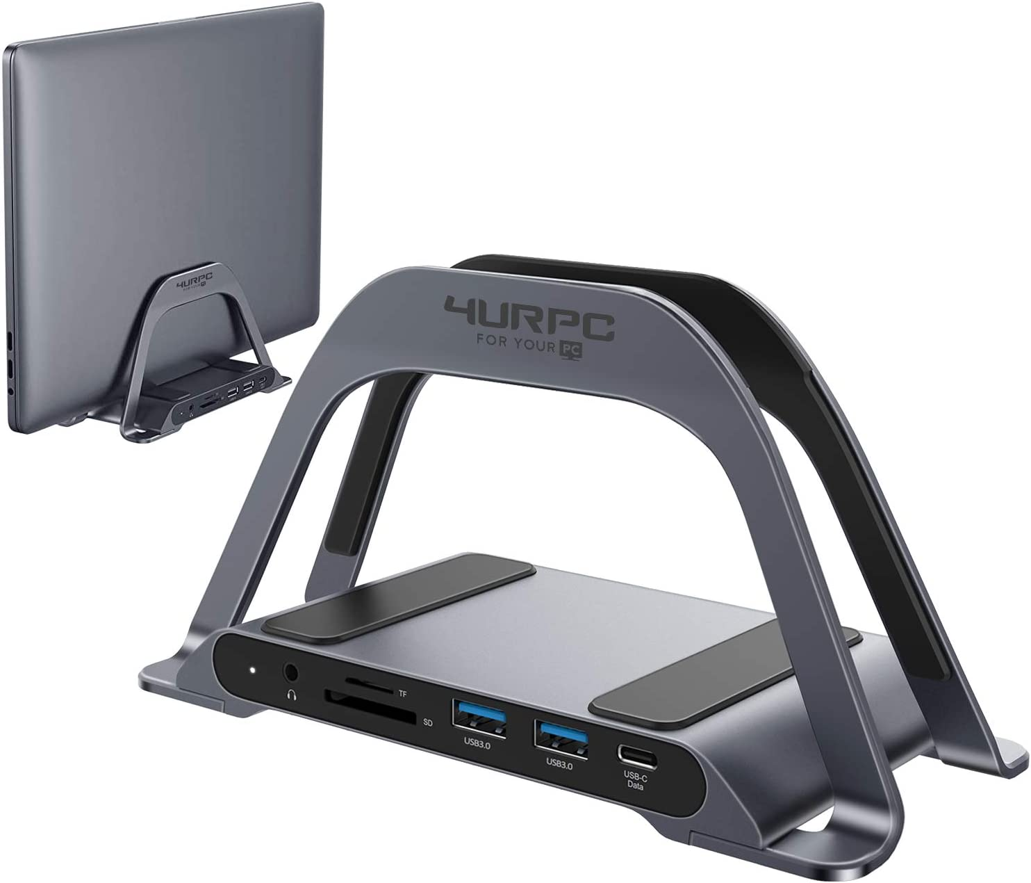 USB C Laptop Docking Station Dual Monitor, 10-Port Dual HDMI Monitor USB C Dock Stand with 2 HDMI, 3 USB, SD/TF, USB C 87W Charging, RJ45 Ethernet, 3.5mm Audio, USB C Docking Station for USB C Laptops
