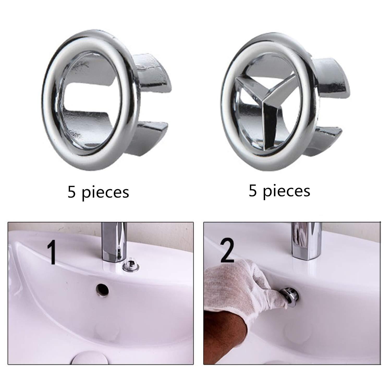 10 piezas de cubierta de desag/üe de fregadero redondo para desag/üe de lavabo para ba/ño o cocina
