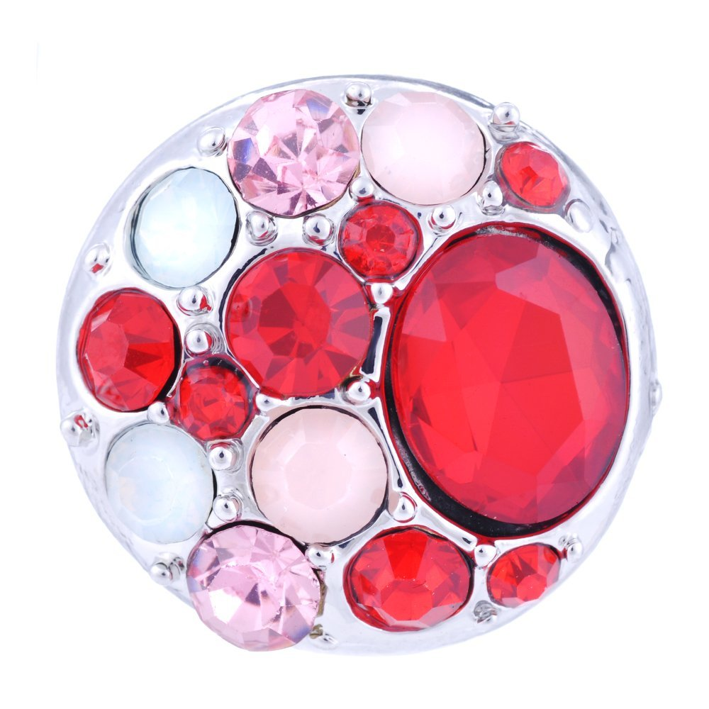 Vocheng 9 Colors Crystal Button 18mm Snap Jewelry Vn-032 Pack 2pcs