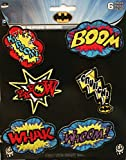 Application DC Comics Batman Action Bursts 6 Pat Ch Set Novelty, 2