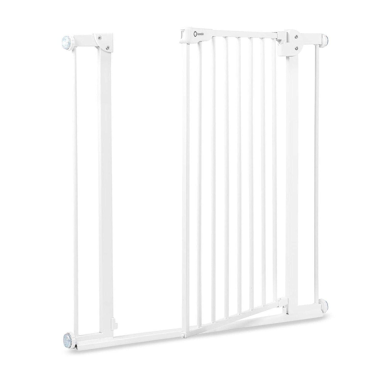 color blanco Barrera de seguridad para beb/és 75-105 cm, 5 kg Lionelo LO-TRUUS SLIM WHITE Truus Slim