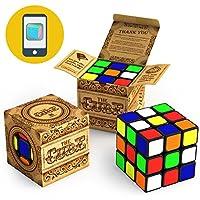 El cubo: se vuelve más rápido y más preciso que el original; Súper Duradero con Vivid Colors 3x3 Cube; Fácil giro y juego suave