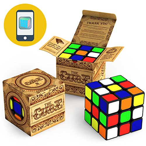 aGreatLife The Speed Cube 3x3x3: Easy to Rotate, Twist and Turn Cubic Toy, Super Sticky Sticker, Super Smooth and Very Light to Carry, Show Those Winning Moves with This 2 Inches 3x3 Cube from aGreatLife
