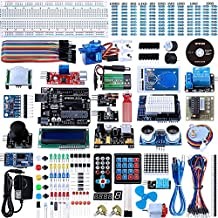 Smraza UNO R3 Kit for Arduino, Complete Ultimate Kit with Arduino Projects Tutoriall, Includes MEGA 2560 Controller Board, Motors, Sensors and LCDs (67 Items )