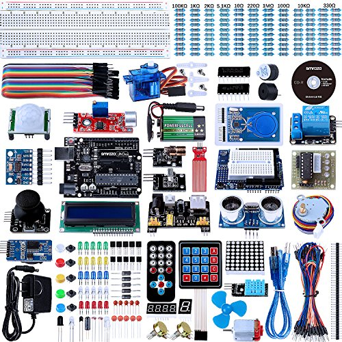 Smraza Uno R3 Starter Kit with Tutorial for Arduino, Includes Motors Sensors and LCDs ( 67 Items )