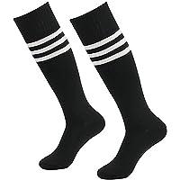Calcetines deportivos Da Wa Fashion con rayas, calcetines por la rodilla, para mujeres y hombres