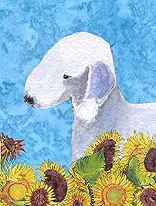 Bedlington terrier bandera, poliéster, Multicolor, S