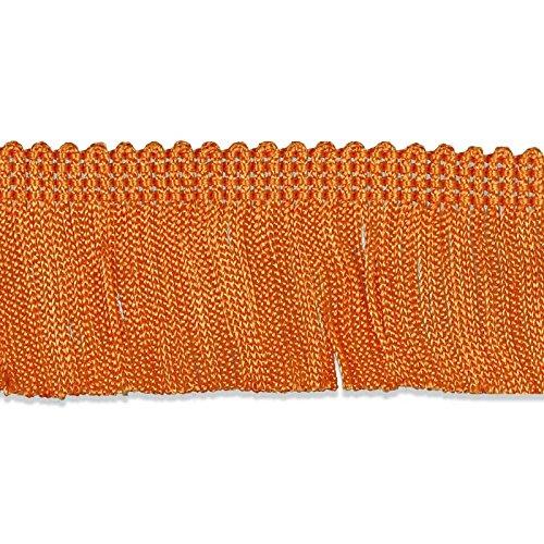 Orange 2 x 9 yd Decorative Trimmings 100/% Rayon Chainette Fringe