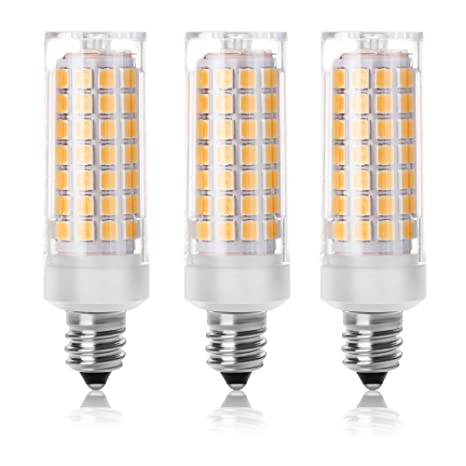 [Pack de 2] shknh regulable Mini candelabro E11 Base bombilla LED 6 W,