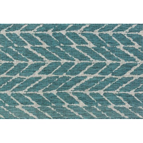 Loloi Rugs, Isle Collection - Teal / Grey Area Rug, 5'-3