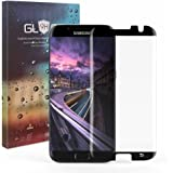 [Case Friendly] S7 Edge Screen Protector, Narrow-Series JR-Glass 3D Curved Tempered Glass Screen Protector for Samsung Galaxy S7 Edge[Not Full Coverage] - Black