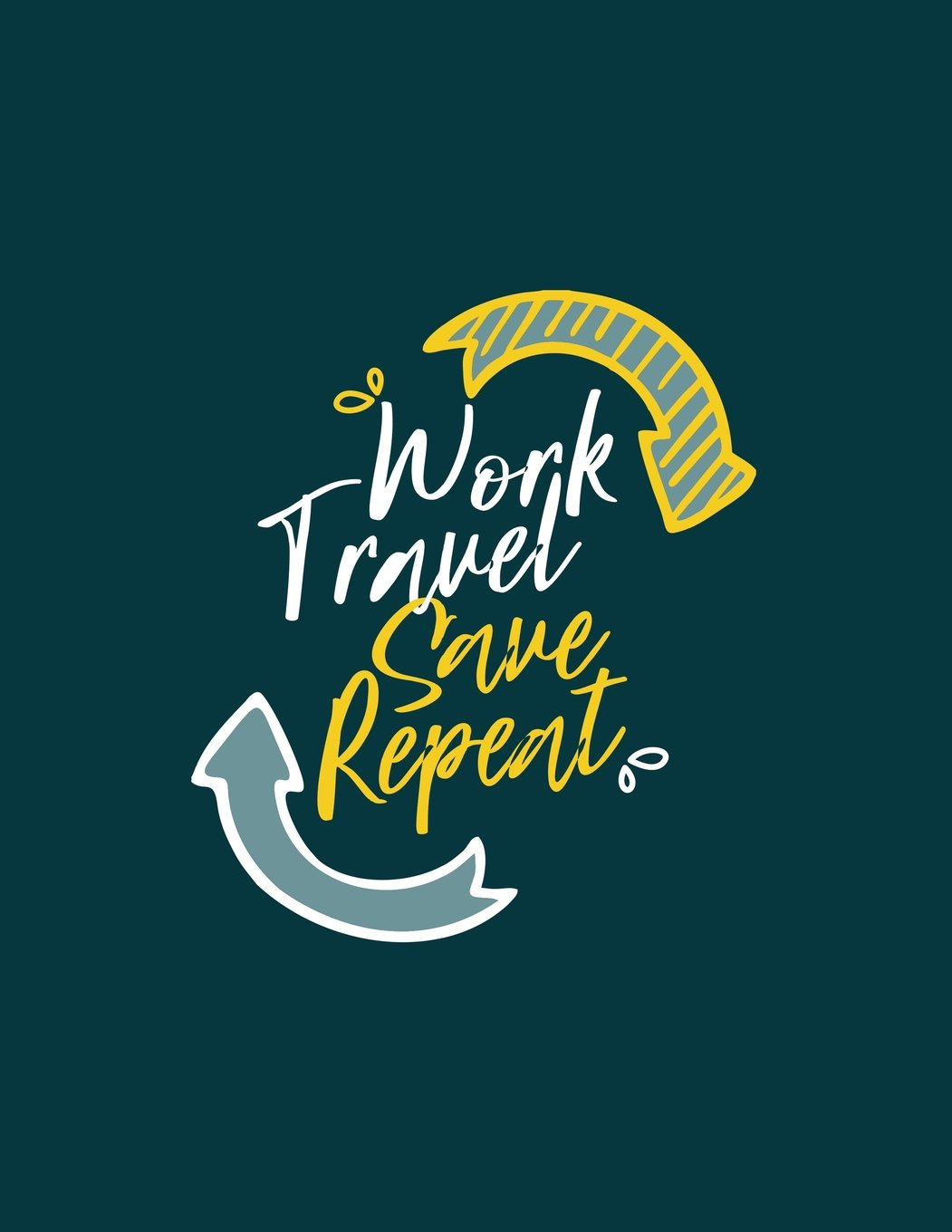 Amazon Work Travel Save Repeat Travel Journal 365 Days Of